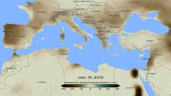 NASA Finds Drought in Eastern Mediterranean Worst of Past 900 Years | Source: Nasa.gov