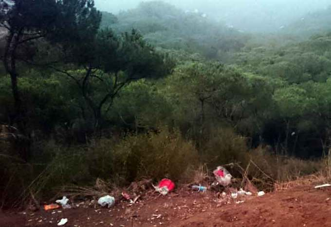 Trash can be found in almost every forest across Lebanon | Source: NewsroomNomad