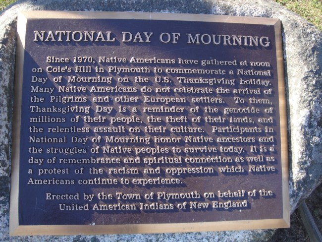 National Day of Mourning Reflects on Thanksgiving's Horrific, Bloody History | Source: Boston.com
