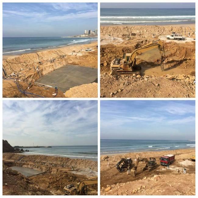 Construction works at Ramlet al-Baida beach, Beirut | Source: Facebook/JoelleBoutros