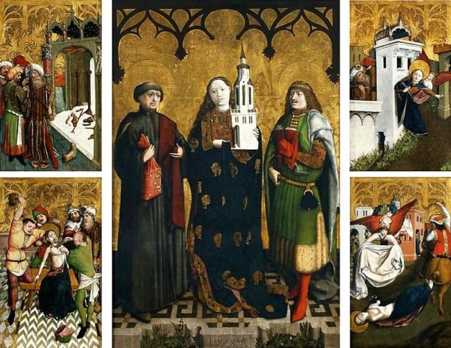 Wilhelm Kalteysen von Aachen's St. Barbara Altarpiece, circa 1447 | Source: Wikimedia/Commons