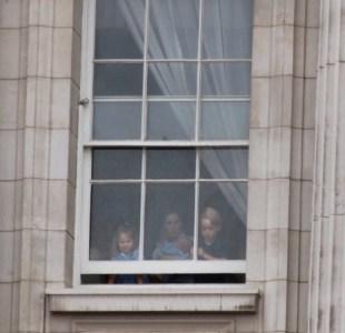 Мария с принцем Джорджем, принцессой Шарлоттой и принцем Луи в июле 2018