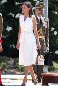 18 июля 2018 Королева Летиция и Король Фелипе появились на Reales Despachos в Мадриде.