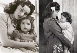 Принцесса Фавзия бинт Фуад Египетская и Иранская со старшей дочерью Принцессой Шахназ Пехлеви | Фото: aeslib.ru