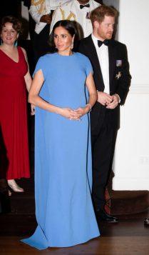 Меган Маркл и принц Гарри на вечернем приеме в Фиджи