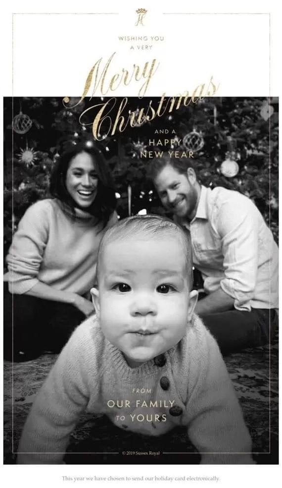 Рождественская открытка Сассекских