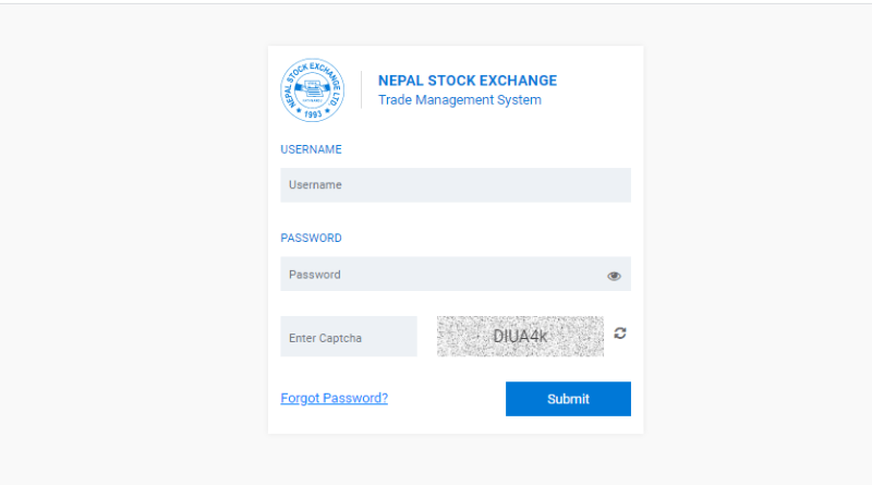 tms login for bye or sale of share in nepal