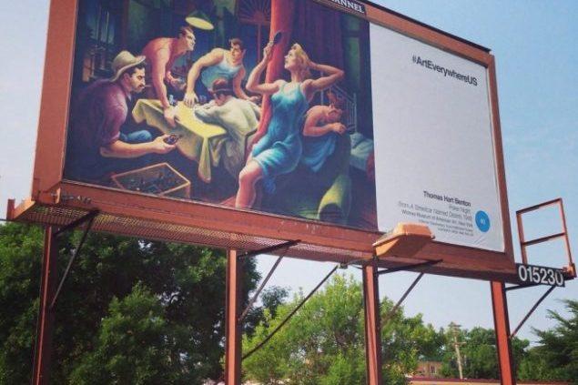 """Акция """"Арт везде в США"""" наводнила города и сельские районы картинами"""
