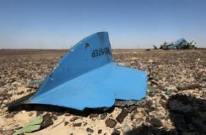 Обломки от российского авиалайнера видно на его крушения и NBSP; & hellip;