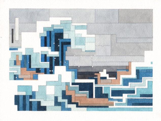 Велика хвиля, зображення з виставки Білі Стіни Сан-Франциско