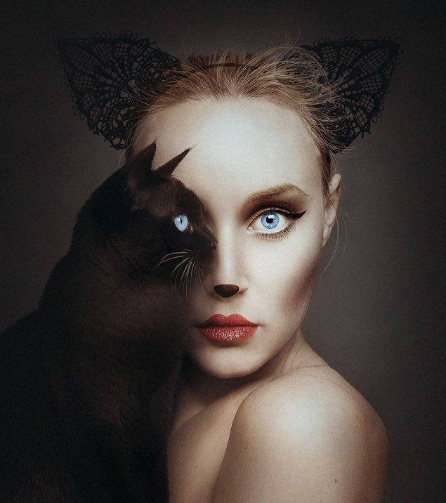 Флора Борсі і кішка