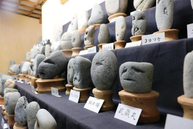 Японський музей каміння, що мають вигляд обличчя