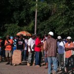 Bosai workers begin protest action at Linden over salary increases
