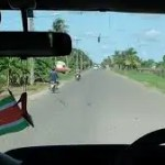 Suriname bus drivers protest against bus drivers from Guyana