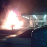 Truck carrying fuel burst into flames at Eccles gas station, major disaster averted