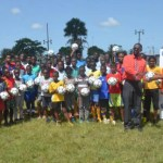 GTT donates footballs to Conquerors youth camp