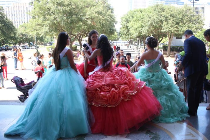 9bc9a6040c9 Teenage Activists Stage Quinceañera-Themed Protest