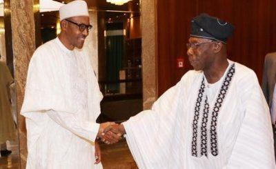 BUHARI and obasanjo e1463479359431 - Obansanjo denies advising Buhari against seeking second term
