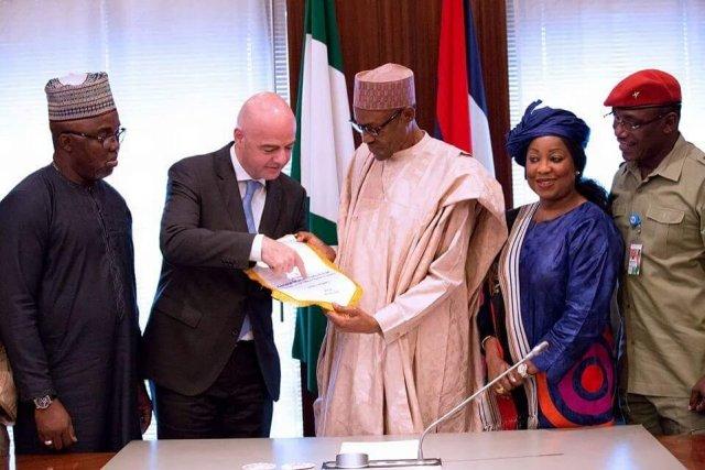 FIFA Infantino and Pres. Buhari