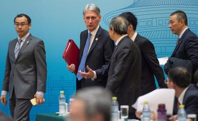 Britains Chancellor of the Exchequer Philip Hammond and Chinese Vice Premier Ma Kai 1 - China, UK vow to strengthen cooperation on economic, financial, trade issues
