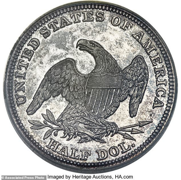 1838 half dollar - First copper coins on sale at auction in Florida