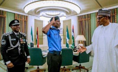 Buhari Decorates New Igp Abubakar Adamu