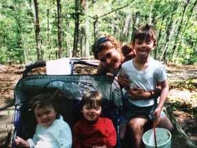 Me and my kids, Chris is now 21, Kari (in white) 18 and Jesi her twin who passed at 16 in Walden woods
