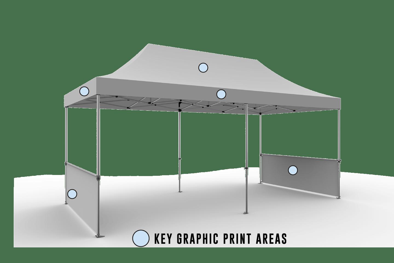 Custom EZ UP Pop Up Tent