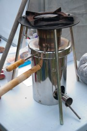 a portable TLUD designed for developing countries - you can cook on the top, no carcinogenic smoke in the house