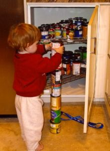 Perpetually stacking things or lining them up is one hallmark of autism. Photo: Andwhatsnext