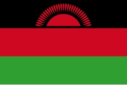 The flag of Malawi