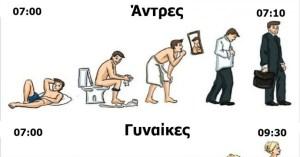 Οι διαφορές μεταξύ Ανδρών και Γυναικών, μέσα από 14 ξεκαρδιστικά σκίτσα!
