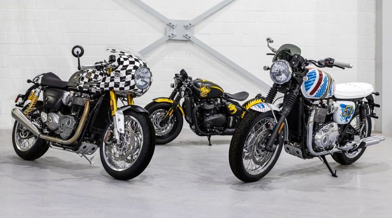 Legendary Artist D*Face Designed Three Custom Motorcycles for Triumph 1