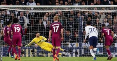 Man City one win from title after victory at Tottenham 2