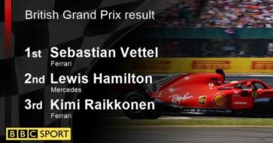 Vettel wins British GP as Hamilton fights back after collision 6