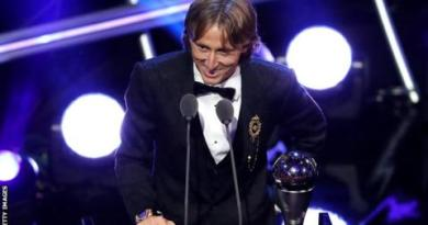 Luka Modric named best male player and Marta best female player at Fifa awards 2
