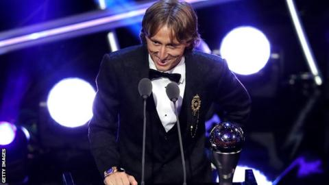 Luka Modric named best male player and Marta best female player at Fifa awards 11