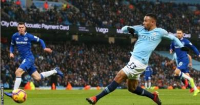 Manchester City 3-1 Everton: Gabriel Jesus & Raheem Sterling put hosts top of Premier League 2
