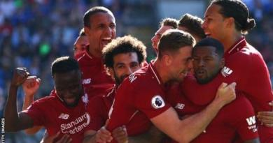 Cardiff 0-2 Liverpool: Wijnaldum and Milner on target as Reds go top 4