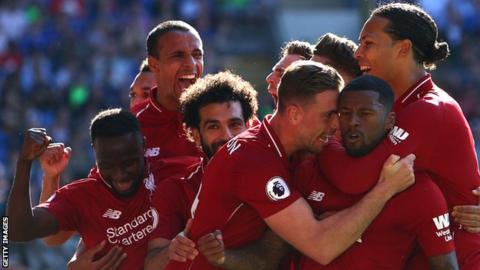 Cardiff 0-2 Liverpool: Wijnaldum and Milner on target as Reds go top 1