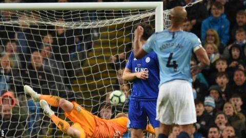 Manchester City 1-0 Leicester: Vincent Kompany scores spectacular winner 1