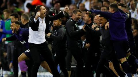 Leeds United 2-4 Derby County (3-4 agg): Jack Marriott scores twice to send Rams to Wembley 1
