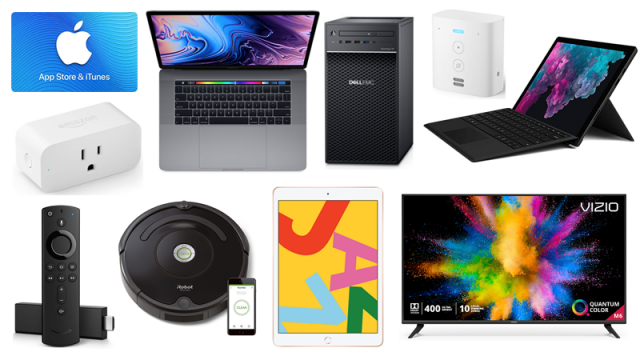 ET Weekend Before Christmas Deals: 15 Percent off $50 Apple Gift Card, $250 off Microsoft Surface Pro 6, iRobot Roomba 675 for $200 7