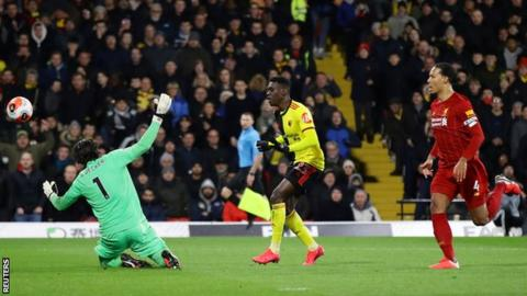 Watford 3-0 Liverpool: Jurgen Klopp's side lose first Premier League game of the season 3