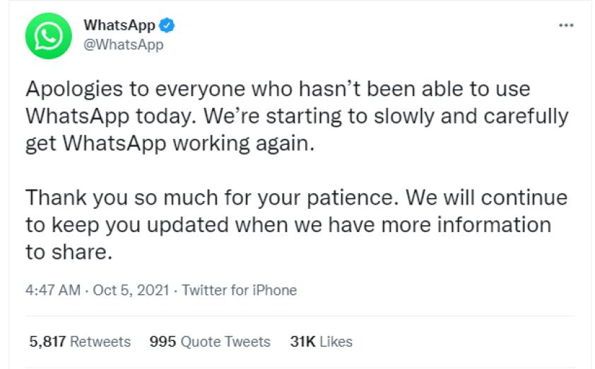 Whatsaap-Down