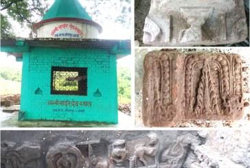 सप्तरीको अग्निसाईर मन्दिरमा फेला प¥यो प्राचीनकालिन ढुंगामा कुदिएका कलात्मक मुर्तिहरु