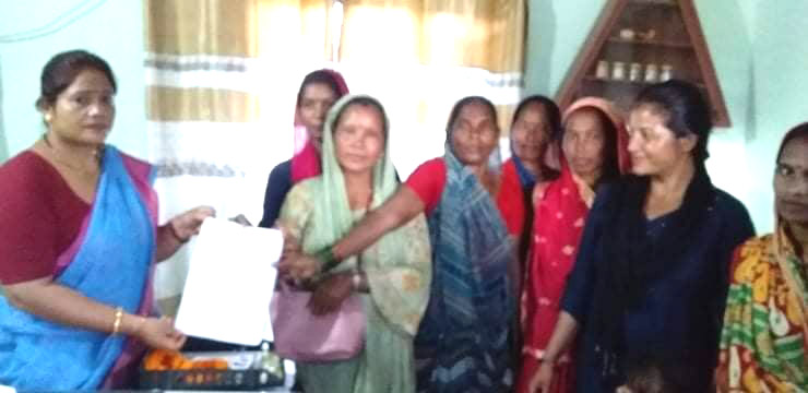 महिला संघले १३ बुँदे माग राखी गाउँपालिकालाई बुझाए ज्ञापन–पत्र