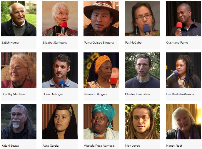 Some of the many speakers featured in the film.