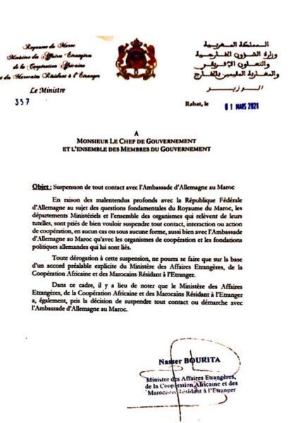 Le Maroc suspend