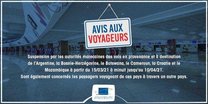 Le Maroc suspend ses vols